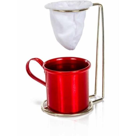 SUPORTE COADOR CAFE C/CANECA 160ML ALUMINIO